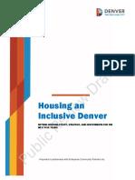 Housing an Inclusive Denver Public Review Draft