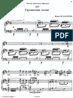 Balakirev Georgian Song 1st Version B Minor