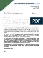 Modelo Carta Presentacion Practicas Externas
