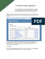 WebGrid Con Filtro, Paginación y Ordenación