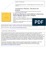 Conditional distribution inverse method in gene- rating uniform random vectors over a simplex.Communications in Statistics – Simulation and Computation
