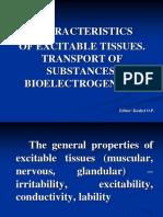Сharacteristics of Excitable Tissues (1)
