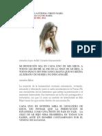 Mensaje de La Santísima Virgen María