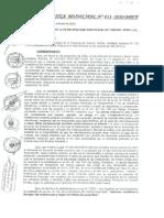Ordenanza Municipal Nº 013