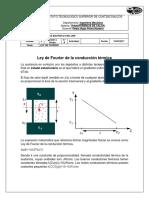 Ley de Fourier de La Conducción Térmica