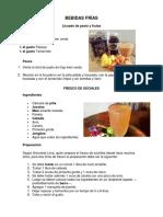 Bebidas Frías, Caliente, Platos Tipicos, Postres