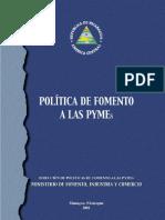 Políticas de Fomento PYME