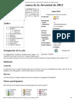 Juegos Suramericanos de La Juventud de 2013 - Wikipedia, La Enciclopedia Libre