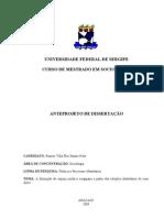 Romeu Villa Flor Santos Neto - Mestrado em Sociologia UFS - Anteprojeto de Dissertação (A formação do espaço jurídico sergipano a partir das relações identitárias de suas elites)