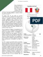 Perú - Wikipedia, La Enciclopedia Libre
