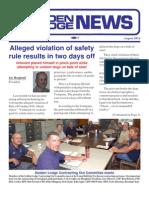 Golden Lodge News August 2010
