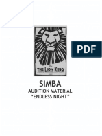 Endless Night Audition Cut - Lion King