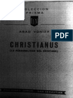 Christianus - La Personalidad Del Cristiano - Vonier