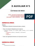 Clase Auxiliar N 5 Sistemas RRHH 2017