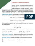 Secc. 4.8, Solucion de Sistemas de e.d. Lineales Por Eliminacion