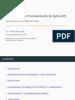 Metodologia de Procesamiento de Datos GPS