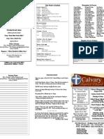 Calvary Bowling Green 8-15-2010 Bulletin
