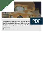 Rapport d'Aviseo Conseil sur l'impact de la désignation patrimoniale du Quartier du Musée
