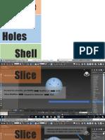 3dmax - slice, cap roles e shell