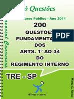 Apostila de Questões Dos Arts. 1º Ao 34 Do Reg. Int. - TRE - SAO PAULO