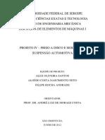 Relatório Projeto IV - Molas e Freio a Disco