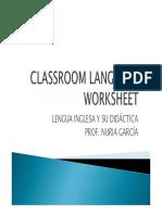 CLASSROOM LANGUAGE WORKSHEET without  key.pdf