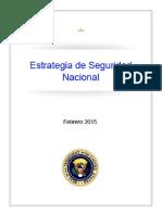 Estrategia de SN de Los EE UU 2015