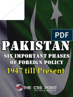 Six Important Phases of Pakistan Foreign Policy