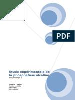 [PDF] Etude Experimentale de la Phosphataase Alcaline - Enzymologie 2.pdf