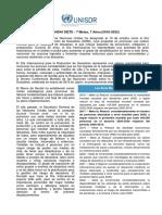 DÍA INTERNACIONAL PARA LA REDUCCIÓN DE RIESGO DE DESASTRES  DIRD2017