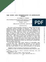 The Citric Acid Fermentation of Aspergillus Niger