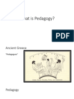 what is pedagogy