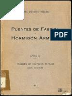 Puentes de Fabrica y Hormigon Tomo IV