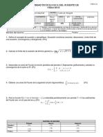 Examen de Calculo Integral Tercer