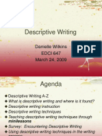EDCI 647 Descriptive Writing Presentation v 2