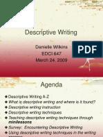 EDCI 647 Descriptive Writing Presentation v 2