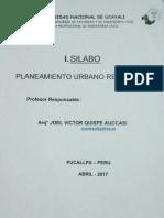 Silabo Planeamiento Urbano Regional
