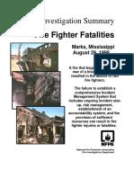 Fire Investigation Summary 4-1998