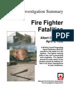 Fire Investigation Summary 5-1998