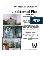 Fire Investigation Summary 9-1999