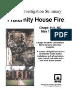 Fire Investigation Summary 7-1996