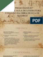 Plano de Aula de Literatura Com Uso de O Primo Basílio