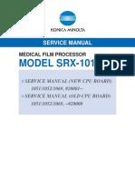 Manual de Servicio SRX-101 Revelador Konica