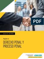 Magister en Derecho Penal y Pr