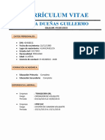 Cv- De Guillermo Villa Dueñas