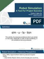 Gales RobotSimulation AToolforProjectSuccess