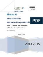 IIT JEE Fluid Mechanics Notes