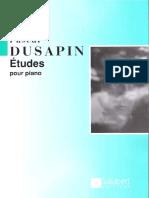 Dusapin - Etudes pour piano.pdf