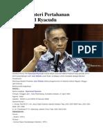 Profil Menteri Pertahanan Ryamizard Ryacudu