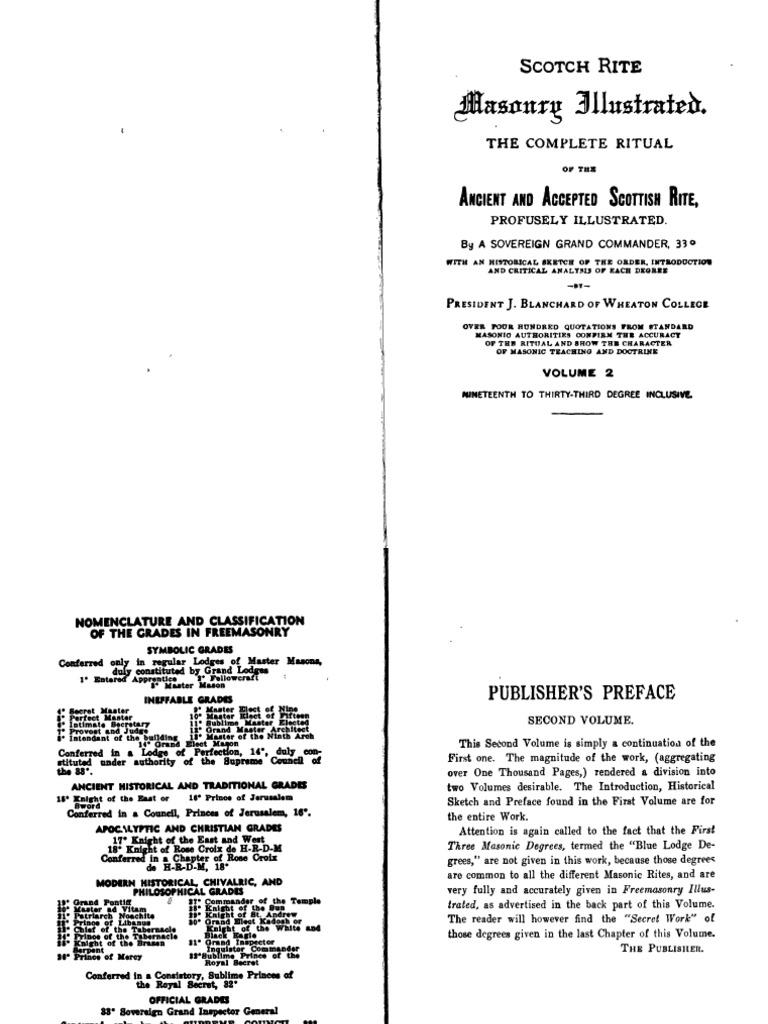 Scotch Rite Masonry Illustrated (BLANCHARD - (Vol II